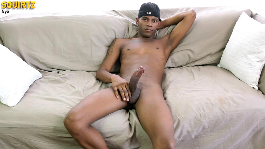Black Dude Jerking Cock Cums