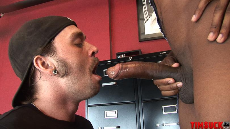"Treasure-Island-Media-TimSuck-Trevor-and-Javin-Big-Black-Cock-Sucking-Amateur-Gay-Porn-04 White Guy Worshipping A 13"" Black Cock Until It Shoots In His Mouth"