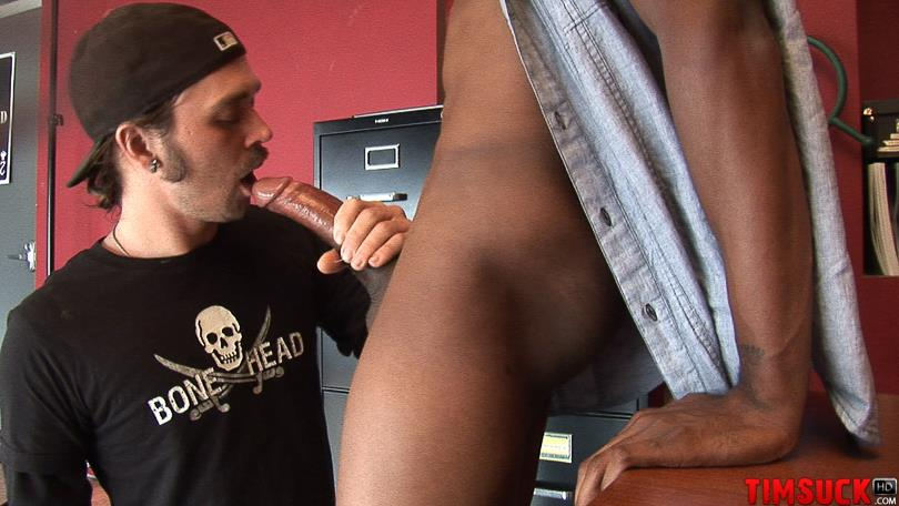 "Treasure-Island-Media-TimSuck-Trevor-and-Javin-Big-Black-Cock-Sucking-Amateur-Gay-Porn-08 White Guy Worshipping A 13"" Black Cock Until It Shoots In His Mouth"