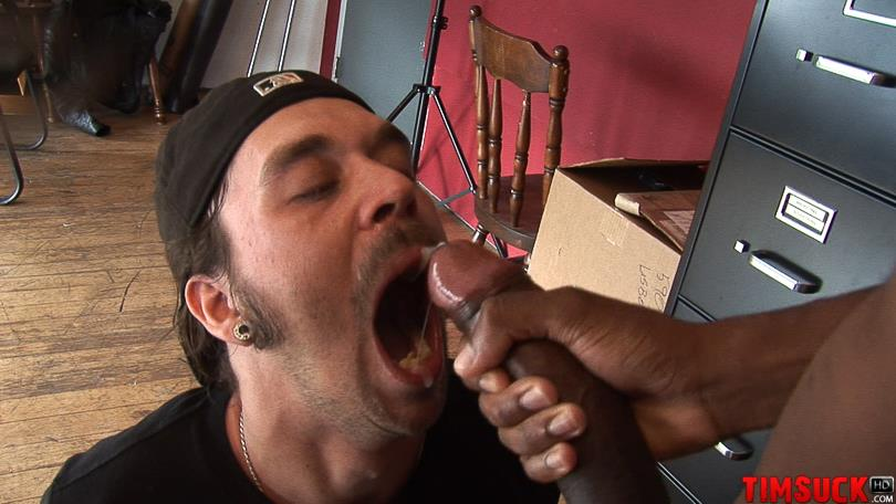 "Treasure-Island-Media-TimSuck-Trevor-and-Javin-Big-Black-Cock-Sucking-Amateur-Gay-Porn-09 White Guy Worshipping A 13"" Black Cock Until It Shoots In His Mouth"