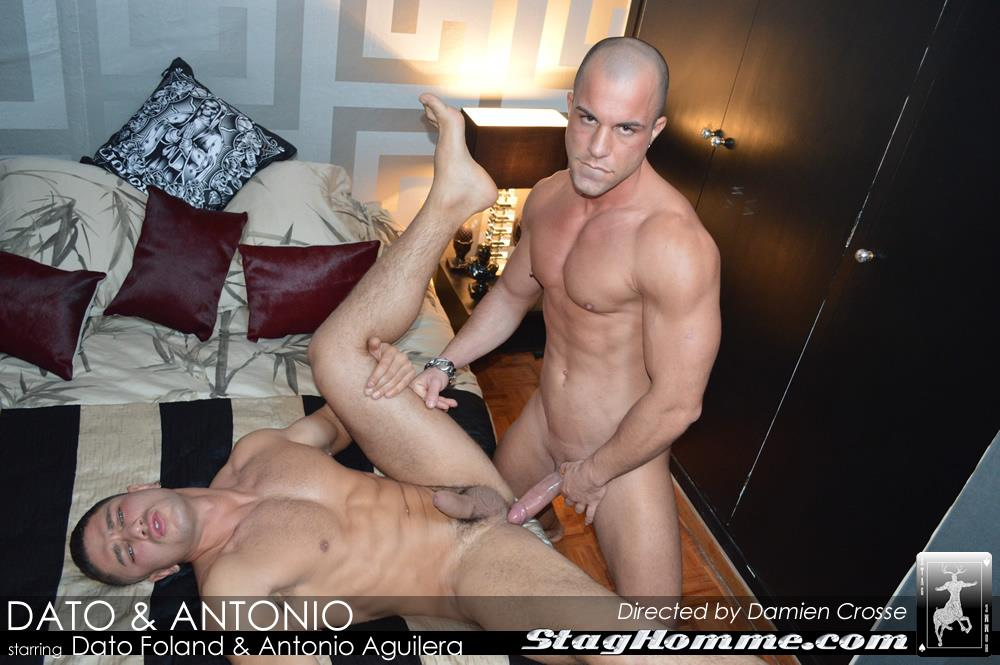 StagHomme Studios Dato Foland and Antonio Aguilera Muscle Hunks With Huge Uncut Cocks Fucking Amateur Gay Porn 14 Dato Foland & Antonio Aguilera Masculine Muscle Hunks Fucking