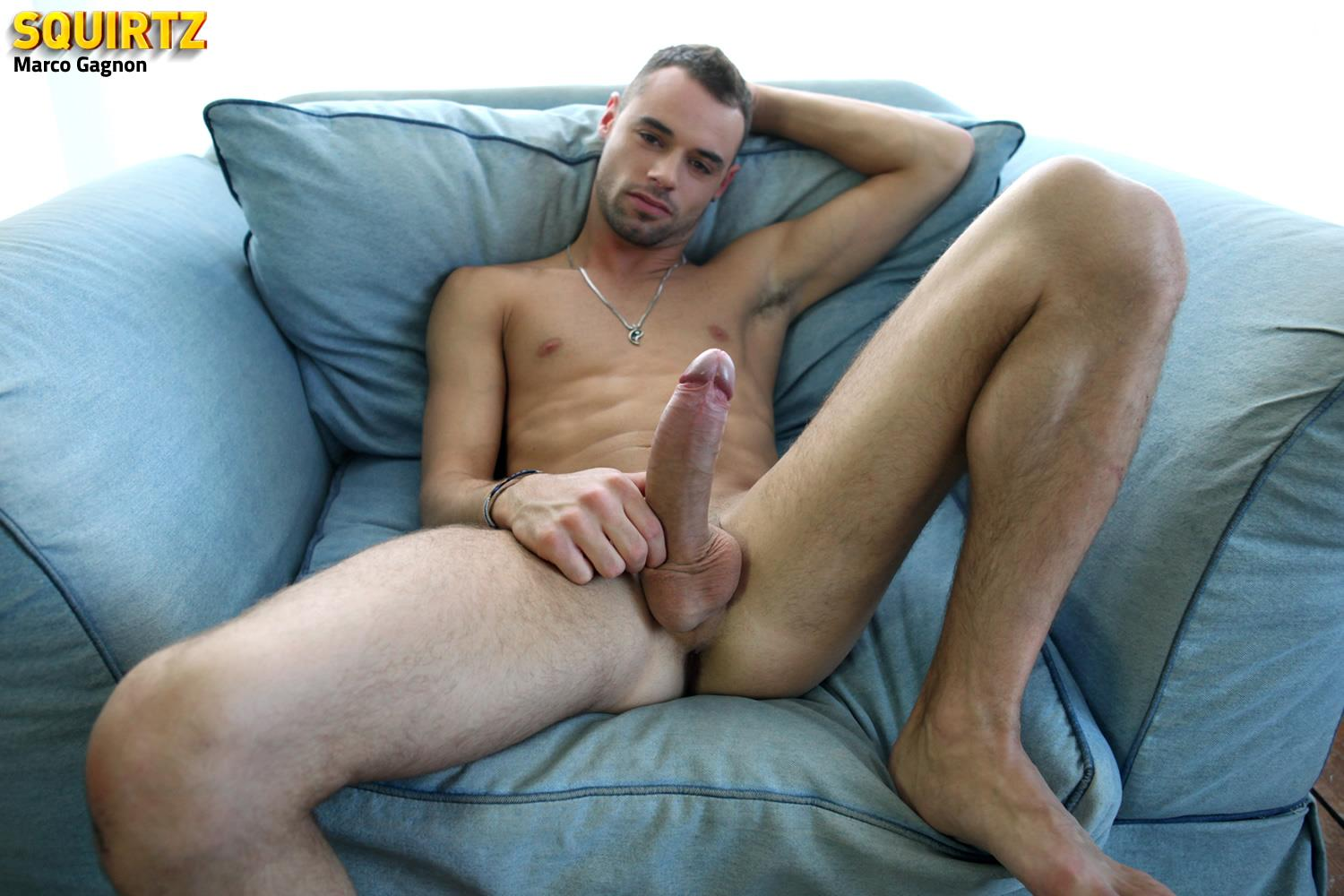 Squirtz Marco Gagnon Twink With A Massive Uncut Cock Jerk Off Amateur Gay Porn 18 Young and Hung Marco Gagnon Stokes His Massive Uncut Cock
