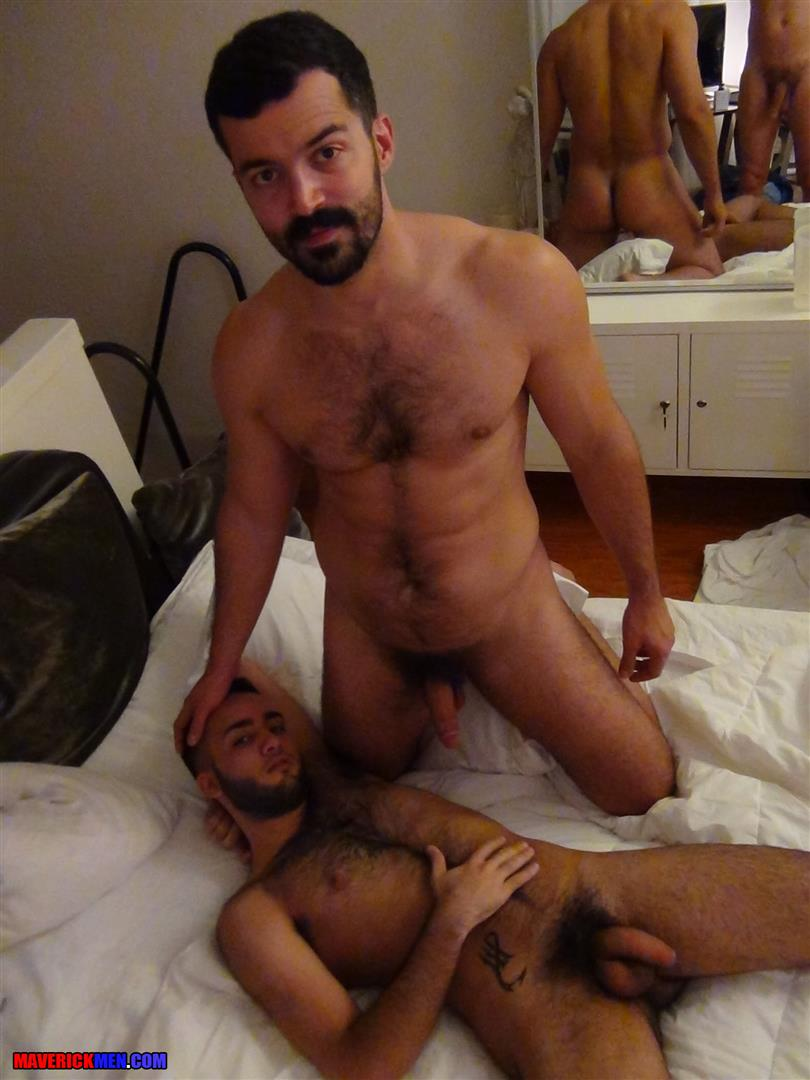Maverick-Men-Little-Wolf-Hairy-Guy-With-Big-Uncut-Cock-Getting-Barebacked-By-Two-Daddies-Gay-Porn-03 Hairy Ass Young Guy Getting Barebacked By The Maverick Men