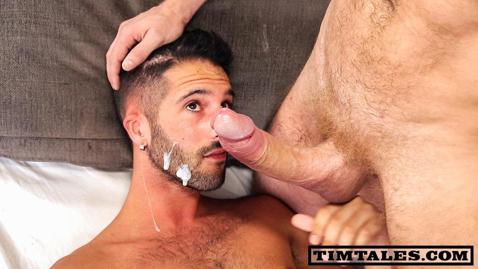 TimTales Tim and Erick Martin Kruger Fucking With His Big uncut cock cum facial Amateur Gay Porn 12 TimTales: Tim and Erick Martin   A Beard Full Of Cum