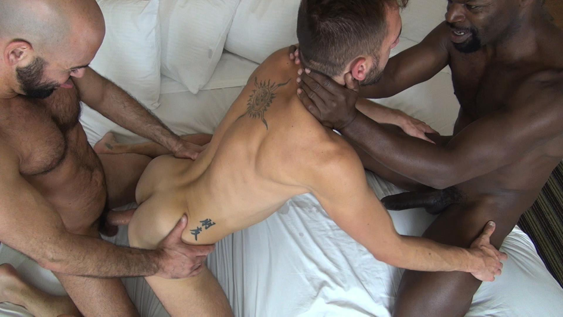 Raw Fuck Club Adam Russo and Cutler X and Dylan Strokes Interracial Bareback Big Black Cock Amateur Gay Porn 6 Interracial Boyfriends Adam Russo and Cutler X Barebacking Dylan Strokes