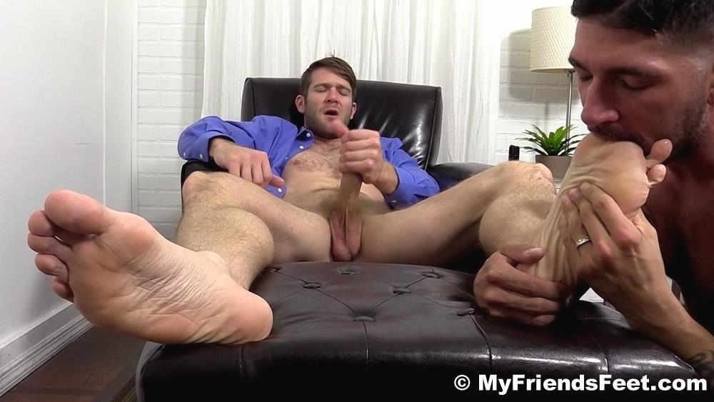 My Friends Feet Colby Keller and Johnny Hazzard Jerking Off And Feet Worship Amateur Gay Porn 19 Colby Keller Jerks Off While Getting His Feet Worshipped By Johnny Hazzard