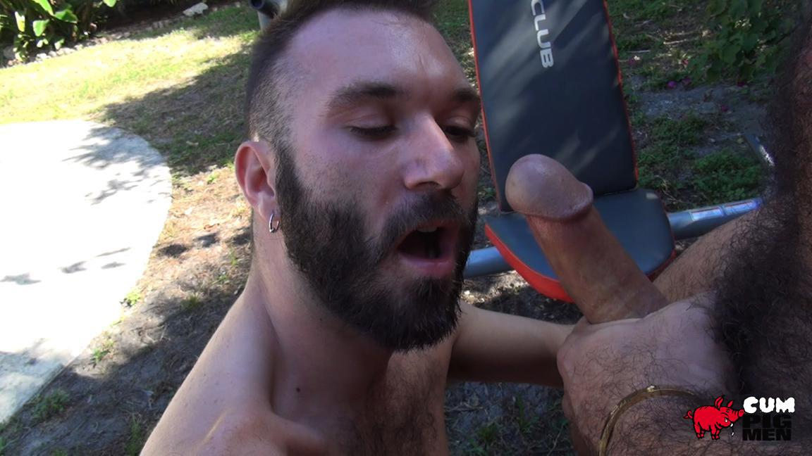 Cum Pig Men Alessio Romero and Ethan Palmer Hairy Muscle Latino Daddy Cocksucking Amateur Gay Porn 13 Hairy Latino Muscle Daddy Gets A Load Sucked Out And Eaten