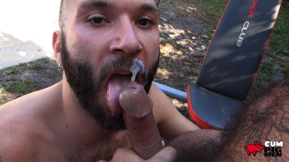 Cum Pig Men Alessio Romero and Ethan Palmer Hairy Muscle Latino Daddy Cocksucking Amateur Gay Porn 29 Hairy Latino Muscle Daddy Gets A Load Sucked Out And Eaten