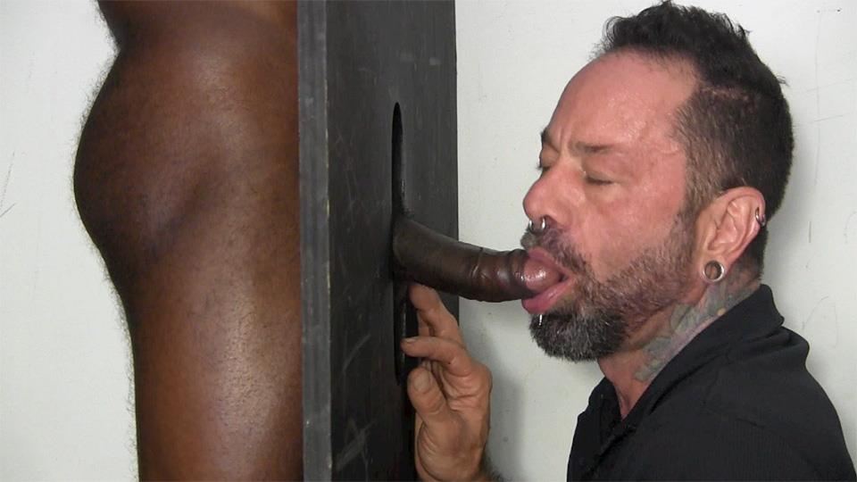 Black stud gets his huge cock sucked by hot ebony babe then fucks 4