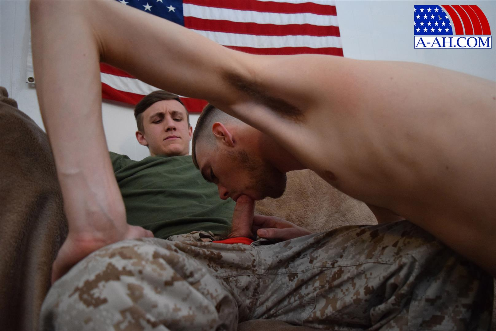 All-American-Heroes-Jett-and-Alex-Naked-Army-Guy-Gets-First-Gay-Blowjob-Amateur-Gay-Porn-05 Straight Army Private Gets A Foot Massage and His First Gay Blow Job