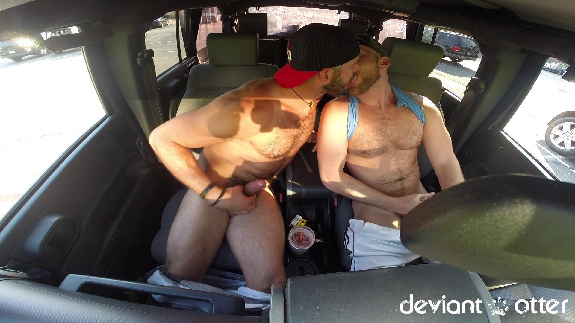 Deviant-Otter-Xavier-Sucking-Cock-In-Public-Hairy-Guys-Amateur-Gay-Porn-12 Masculine Hairy Guys Sucking Each Other's Cock In A Parking Lot