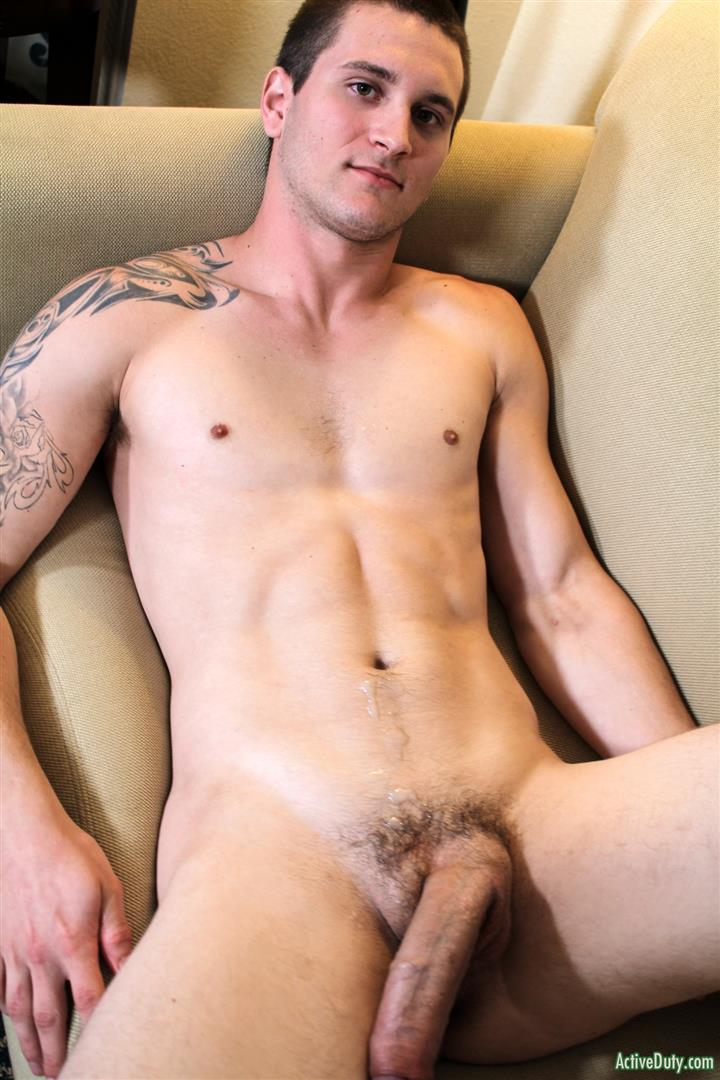 Active-Duty-Allen-Lucas-Army-Private-Jerking-Off-Big-Uncut-Cock-Amateur-Gay-Porn-13 US Army Private Jerking His Big Uncut Cock