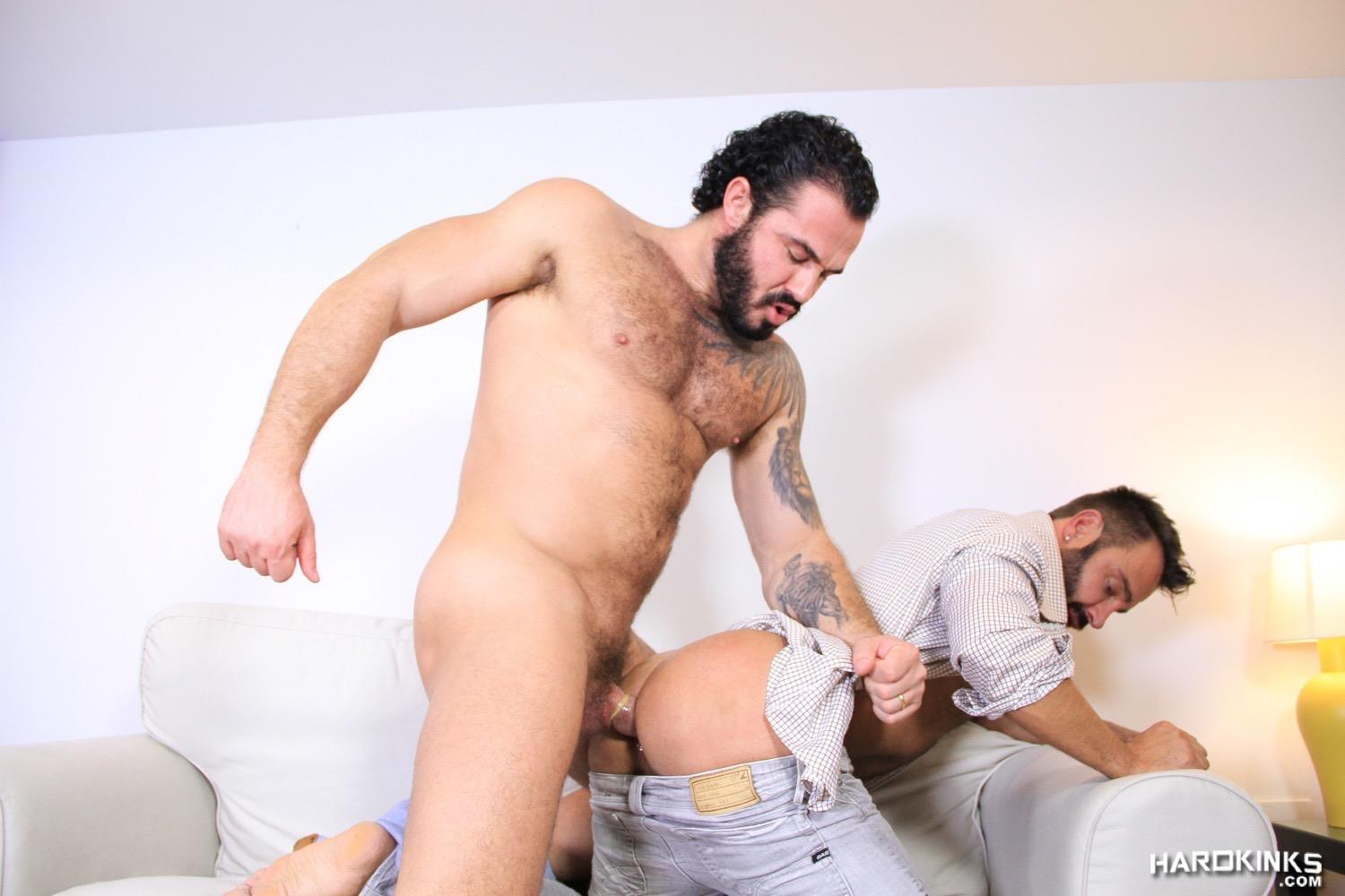 Hardkinks-Jessy-Ares-and-Martin-Mazza-Hairy-Alpha-Male-Amateur-Gay-Porn-41 Hairy Muscle Alpha Male Dominates His Coworker