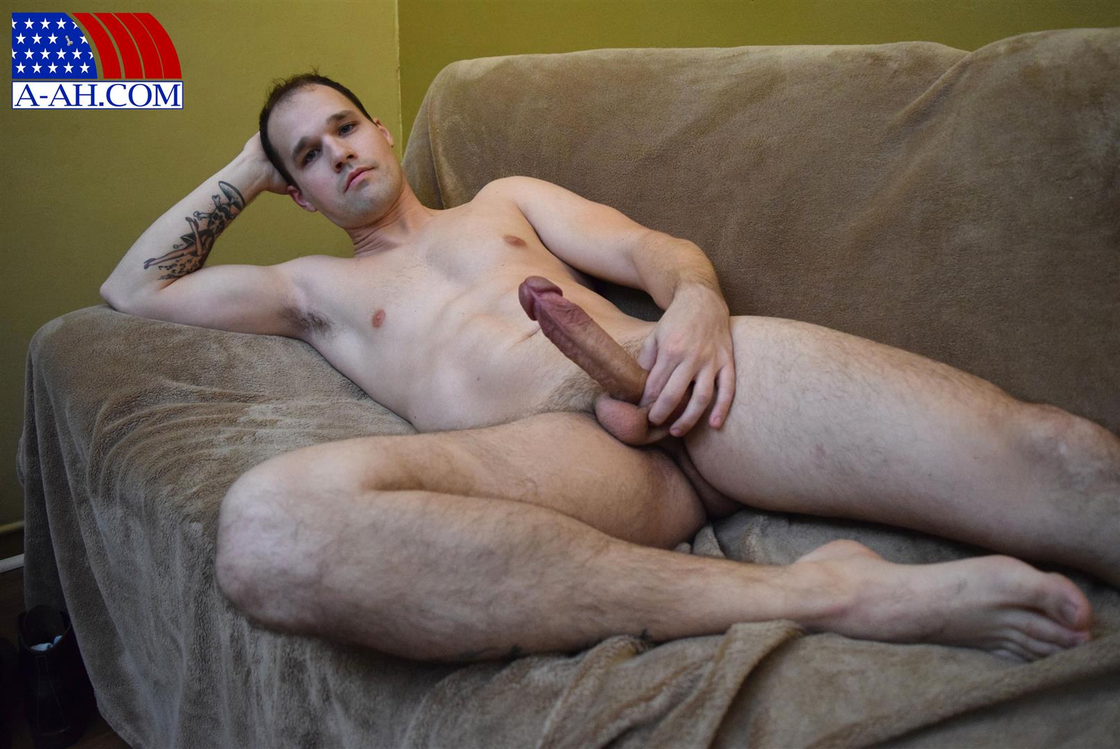 All American Heroes Navy Petty Officer Chris Big Uncut Cock Amateur Gay Porn 10 US Navy Petty Officer Stroking His Big Uncut Cock